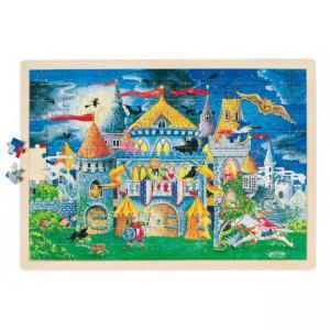 Goki, Puzzle, Wooden, 192 Pieces, (Haunted Castle for 4+ years)