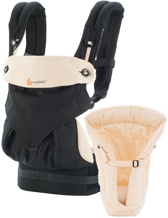 c42976527d114 Ergobaby, Baby Carrier, Starter Pack with an Infant Insert, Four Position  360 Bundle Of Joy - Black & Camel