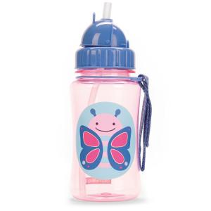 Skip Hop Bottle With Straw Zoo Butterfly