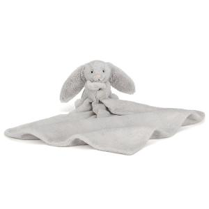 Jellycat, Soother, Bashful, Bunny, Silver Grey