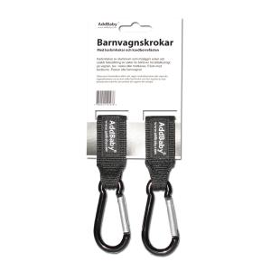 AddBaby Barnvagnskrokar med Kabinhakar och Kardborre 2-pack