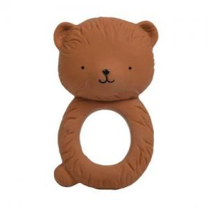 A Little Lovely Company Teething Ring Natural Rubber Bear