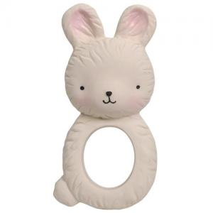 A Little Lovely Company Teething Ring Natural Rubber Bunny