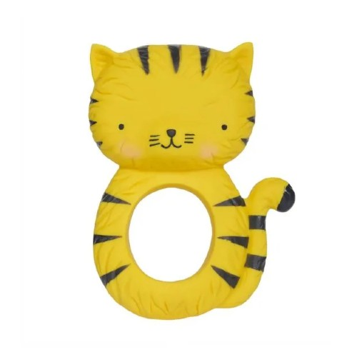 A Little Lovely Company Teething Ring Natural Rubber Tiger