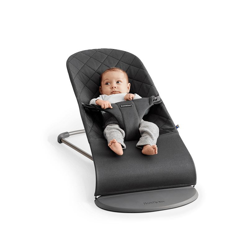 BabyBjörn Babysitter Bliss Antracitgrå Anthracite Grey Cotton