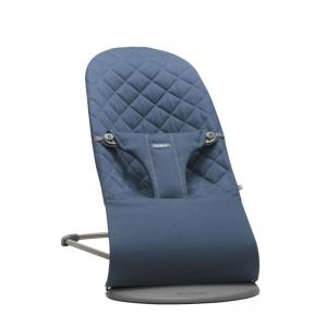 BabyBjörn Bouncer Bliss Midnight Blue Cotton