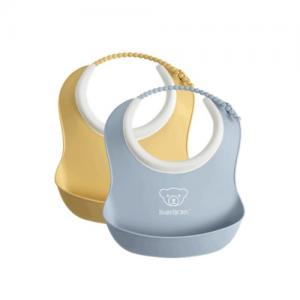 BabyBjörn Small Bib 2-pack Light Yellow / Light Blue