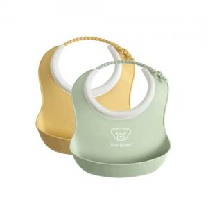 BabyBjörn Small Bib 2-pack Light Yellow / Light Green