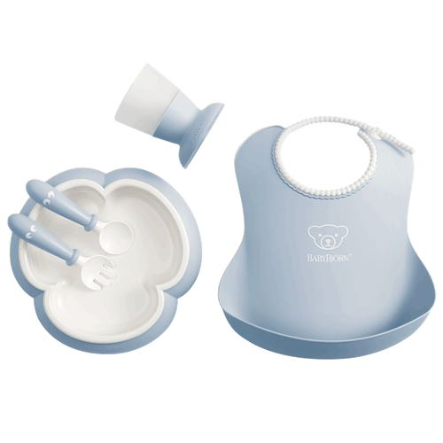 BabyBjörn Dinner Set For Kids Powder Blue