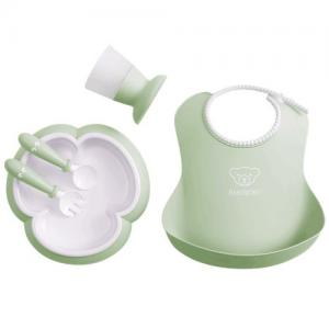 BabyBjörn Dinner Set For Kids Powder Green