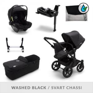 Bugaboo Donkey3 Complete Stroller Set - Mineral Collection Washed Black