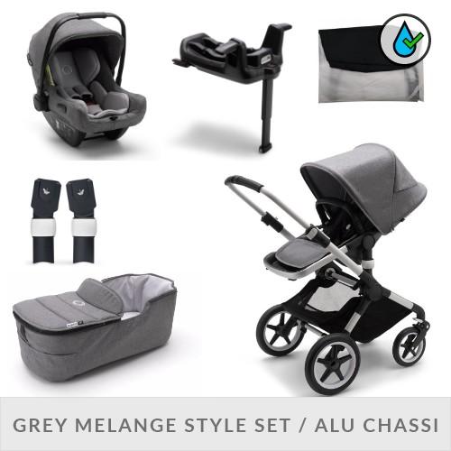 Bugaboo Fox2 Komplett Barnvagnspaket - Grey Melange Style Set