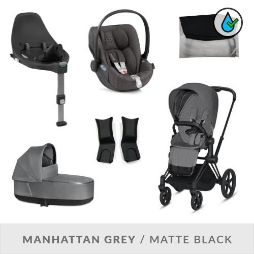 Cybex Priam Komplett Barnvagnspaket - Manhattan Grey