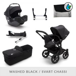 Bugaboo Donkey3 Komplett Barnvagnspaket - Mineral Collection Washed Black
