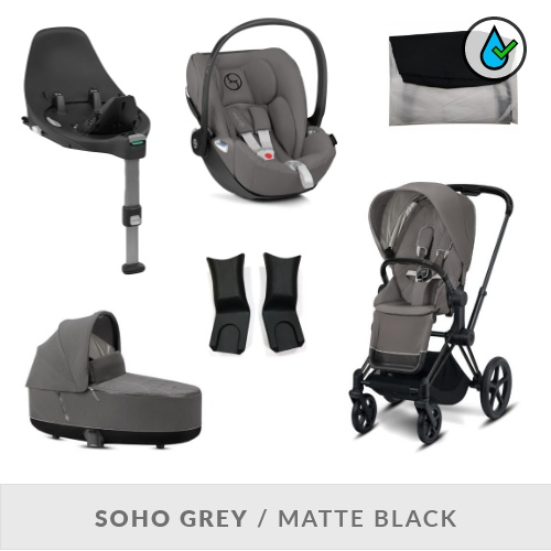 Cybex Priam Komplett Barnvagnspaket - Soho Grey