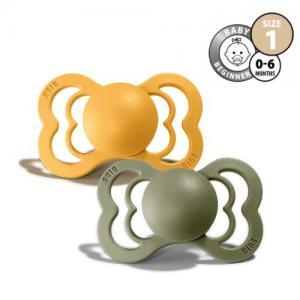 Bibs Supreme Pacifier Stl 1 Honey Bee/Olive
