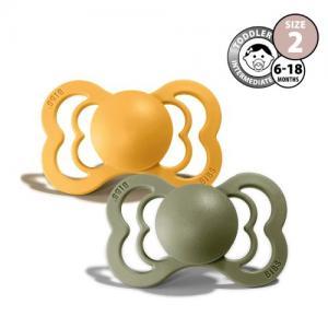 Bibs Supreme Napp Stl 2 Honey Bee/Olive 2-pack