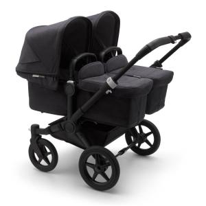 Bugaboo Donkey3 Twin Mineral BLACK / WASHED BLACK Complete Stroller