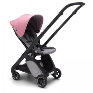 Bugaboo Ant Svart Chassi Grey Melange-Pink Melange Style Set Komplett Sittvagn