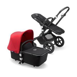 Bugaboo Cameleon3 Plus BLACK / BLACK - RED Komplett Barnvagn