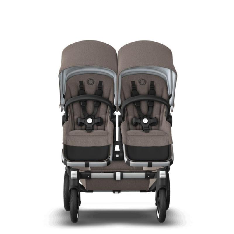 Bugaboo Donkey2 Duo Mineral Taupe Komplett barnvagn Aluminium Chassi