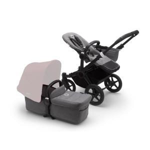Bugaboo Donkey3 Mono BLACK Base / GREY MELANGE Style Set Stroller
