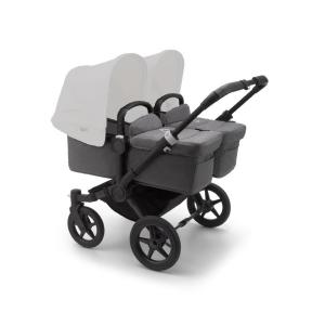 Bugaboo Donkey3 Twin BLACK Base / GREY MELANGE Style Set Stroller