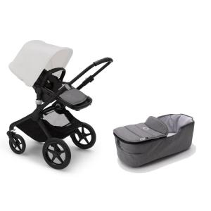 Bugaboo Fox2 BLACK Base / GREY MELANGE Style Set Stroller
