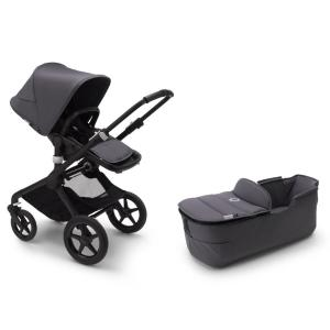 Bugaboo Fox2 BLACK / STEEL BLUE Komplett Barnvagn