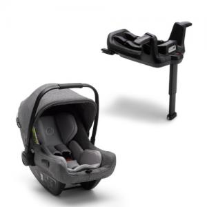 Bugaboo Turtle Air by Nuna Car Seat Black + Isofixbase Wings Grey Melange