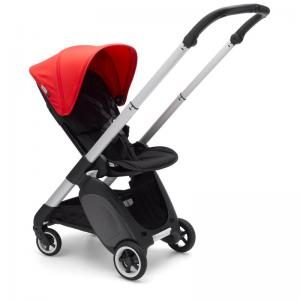 Bugaboo Ant Aluminium Chassi Black-Neon Red Style Set Komplett Sittvagn
