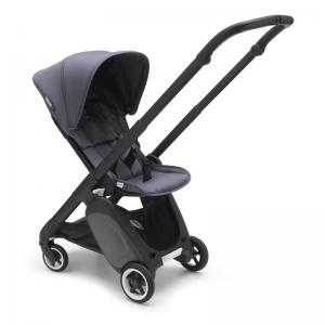 Bugaboo Ant Black Chassis Steel Blue-Steel Blue Style Set Complete Pushchair