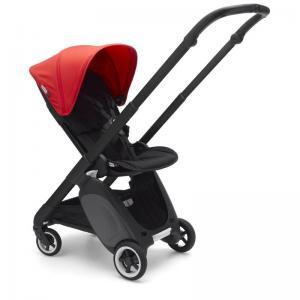 Bugaboo Ant Svart Chassi Black-Neon Red Style Set Komplett Sittvagn