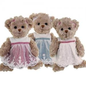 Bukowski Teddybear Josefin white dress Size 25 cm