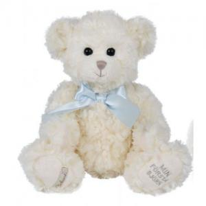 Bukowski My First Teddy Bear 30cm White Teddy Blue Bow