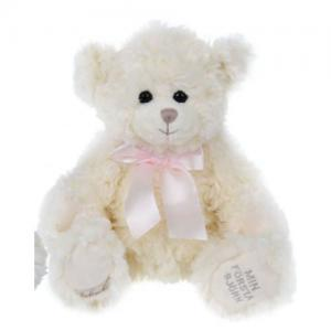 Bukowski My First Teddy Bear Teddy Bear 30cm White Teddy Pink Rose