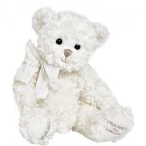 Bukowski Welcome To The World Teddy Bear 40cm White Bear Grey Nose
