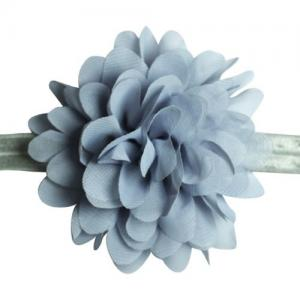 Busy Lizzie Hairband Flower Grey