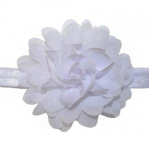 Busy Lizzie Hairband Flower White