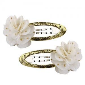 Busy Lizzie Hair Clip Pompom Gold