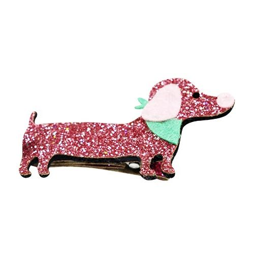 Busy Lizzie Clips With Pink Dauchshund Dog
