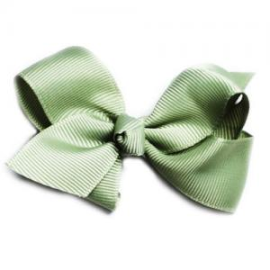 Busy Lizzie Hair Clip With A Big Bow Olive Green