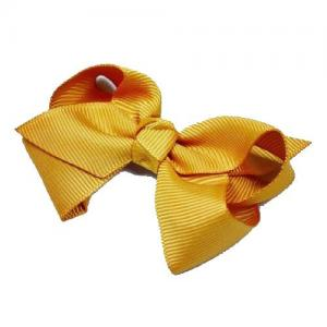 Busy Lizzie Hair Clip With Big Bow Mustard