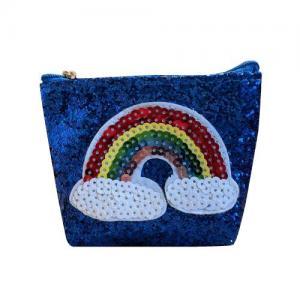 Busy Lizzie Plånbok Regnbåge Blå Glitter