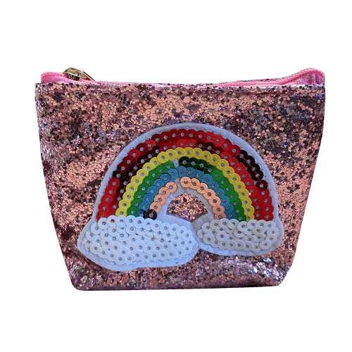 Busy Lizzie Wallet Rainbow Pink Glitter