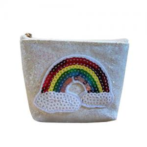Busy Lizzie Wallet Rainbow White Glitter