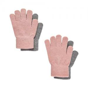 CeLaVi Magiska Fingervantar 2-pack Misty Rose & Light Grey 3-6 år