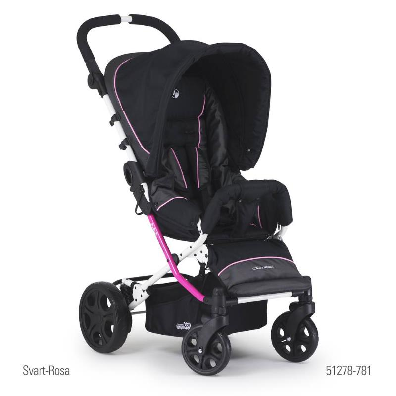 Crescent Compact 360 Black-Pink Pushchair