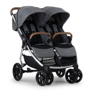 Crescent Duo Lightway Grey Melange Sibling Stroller