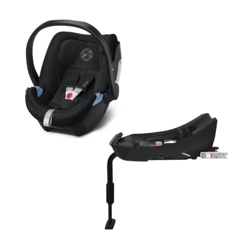 Cybex Aton 5 Infant Car Seat incl. Base 2-Fix Urban Black